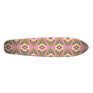 Native American Design Pink Skateboard