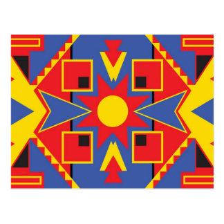 Native American Design Postcard