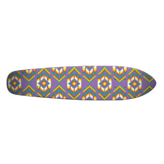 Native American Design Purple Skate Board