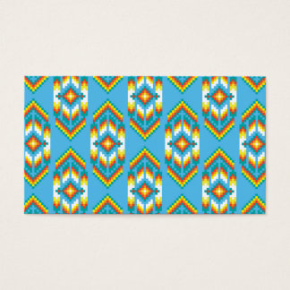 Native American Design Sky Blue Business Card
