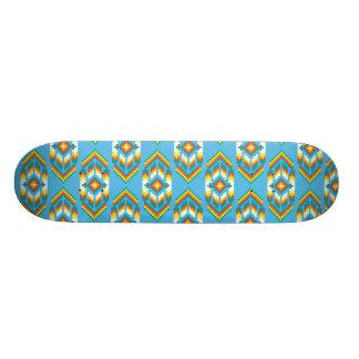 Native American Design Sky Blue Skate Deck