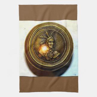 Native American door knob/dish cloth Hand Towels