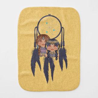 Native American Dream Catcher Pals Pixel Art Burp Cloth
