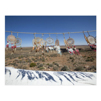 Native American dream catchers for sale outside Postcard