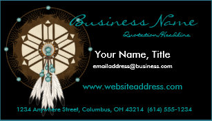 Native americans business cards zazzle native american dreamcatcher d1 business cards colourmoves
