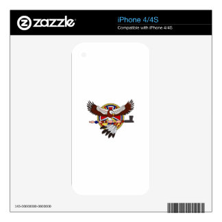 Native American eagle Decals For The iPhone 4