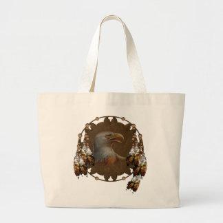 Native American Eagle Design Tote Bag