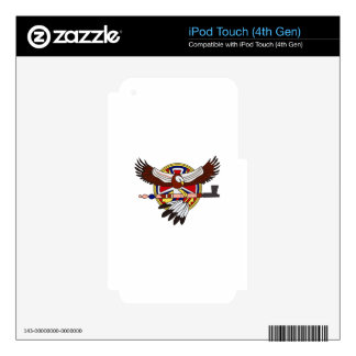 Native American eagle Skins For iPod Touch 4G