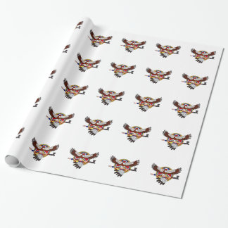 Native American eagle Wrapping Paper