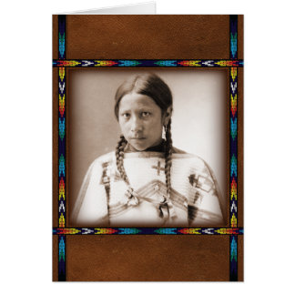 Native American Early Photo 1900s Card
