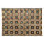 Native American Fabric Design. Tribal Aztec, Andes Cloth Placemat