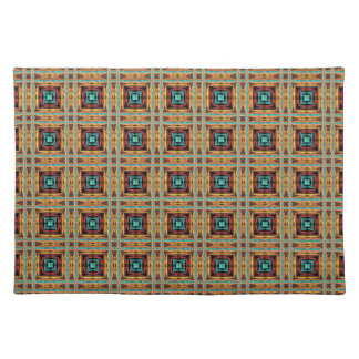 Native American Fabric Design. Tribal Aztec, Andes Placemat
