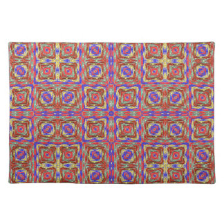 Native American Fabric Pattern. Tribal Aztec Andes Place Mat
