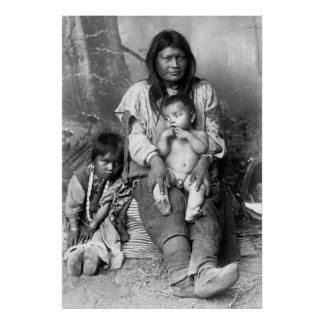Native American Family, 1916 Poster