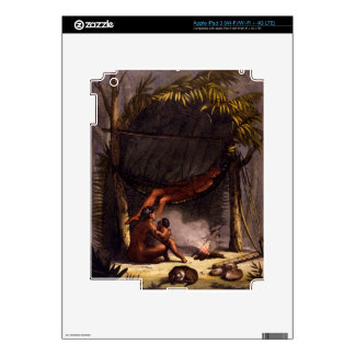 Native American Family under a Leaf Shelter (colou iPad 3 Skin