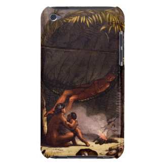 Native American Family under a Leaf Shelter (colou iPod Touch Case-Mate Case