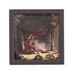 Native American Family under a Leaf Shelter (colou Premium Gift Boxes
