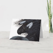 Native American Feather Horse by BiHrLe Card