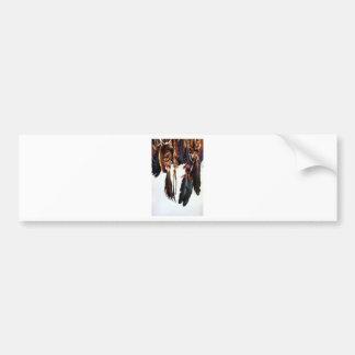 Native American Feathers Bumper Sticker