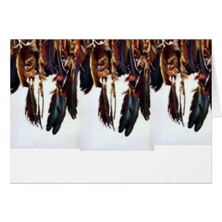 Native American Feathers Card