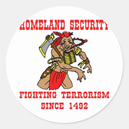 Native American Fighting Terrorism Since 1492 Classic Round Sticker