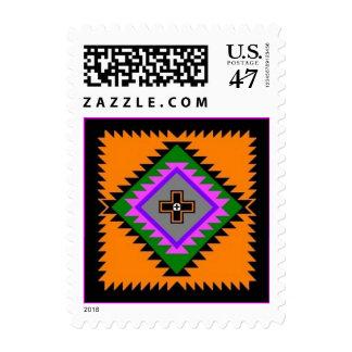 Native American Folk Art Four Winds Motif Stamps