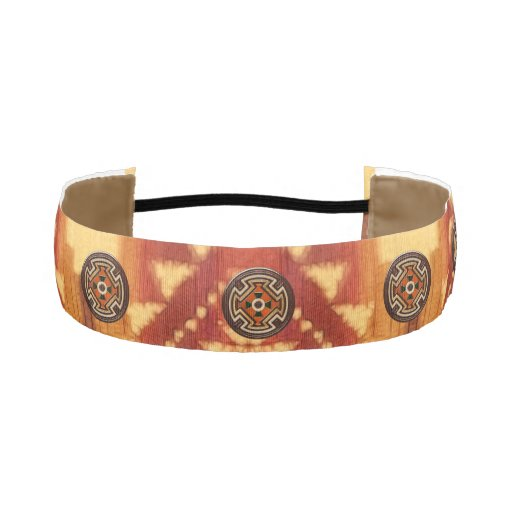 Native American Folk Art Red Bear Athletic Headband