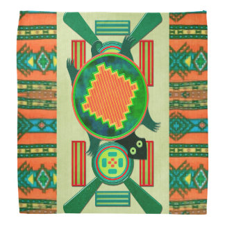 Native American Folk Art Turtle Bandana