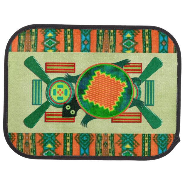 Native American Folk Art Turtle Car Mat Zazzle