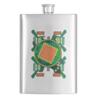 Native American Folk Art Turtle Flasks