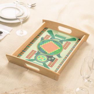 Native American Folk Art Turtle Food Trays