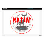 """Native American for Life 17"""" Laptop Skins"""