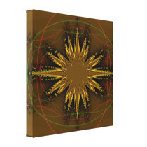 Native American Fractal Pattern Canvas Print