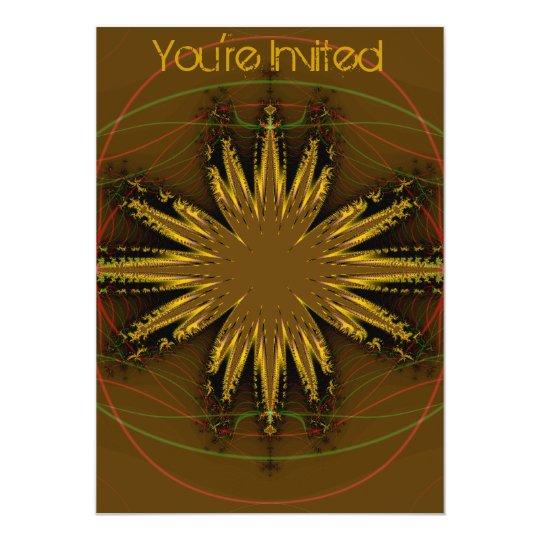 Native American Fractal Pattern Card