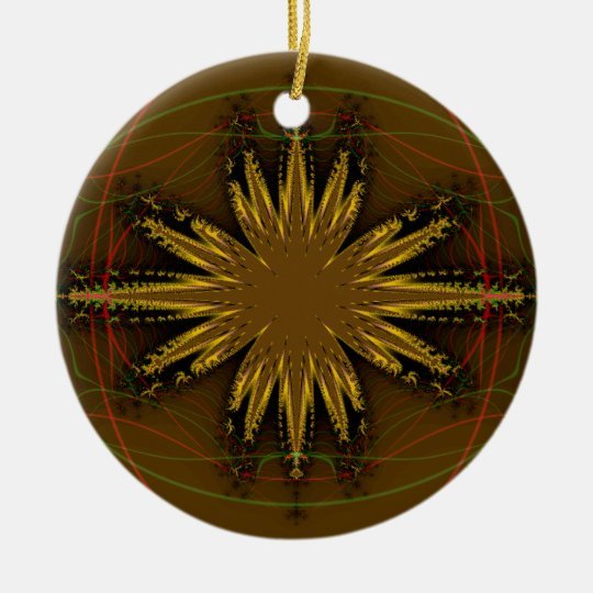 Native American Fractal Pattern Ceramic Ornament