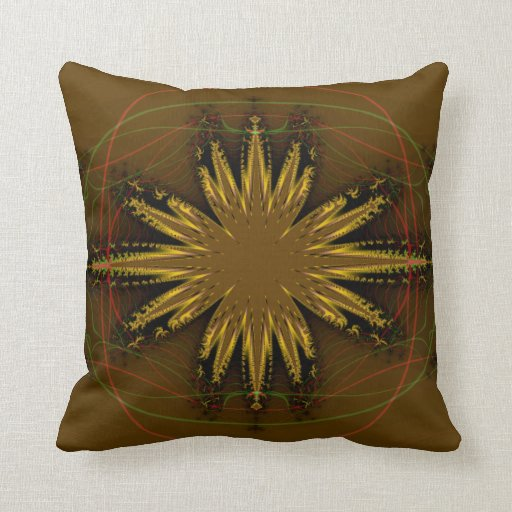 Native American Fractal Pattern Pillow