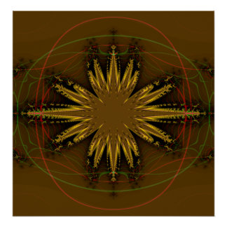 Native American Fractal Pattern Poster