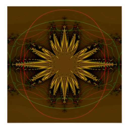 Native American Fractal Pattern Posters