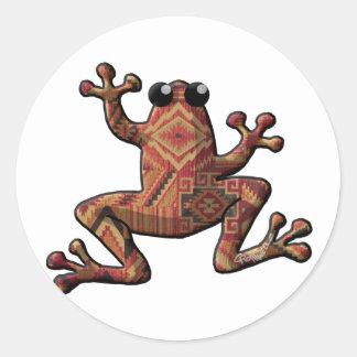 Native American Frog Classic Round Sticker