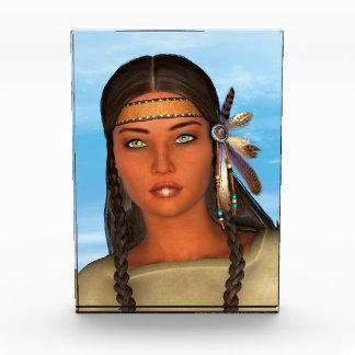 Native American Girl Acrylic Award