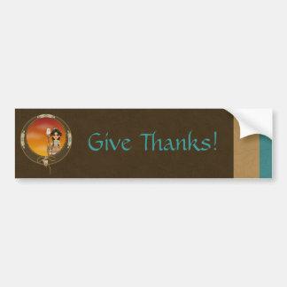 Native American Girl Bumper Sticker