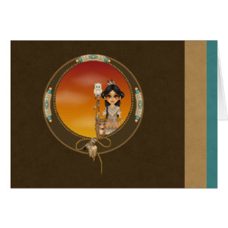 Native American Girl Card