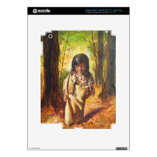 Native American Girl Decal For iPad 3