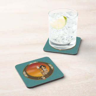 Native American Girl Drink Coaster
