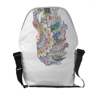 Native American Girl's Headdress Bag Courier Bag