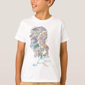 Native American Girl's Headdress T-Shirt