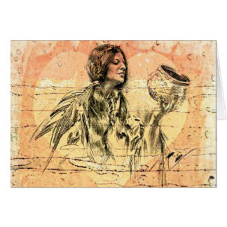 Native American Greeting Card.  Harrison Fisher's Greeting Card