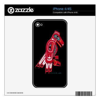 Native American Haida Art Bald Eagle iPhone 4 Skin
