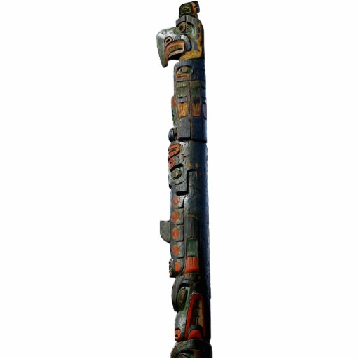 Native American Haida Totem Pole sculpted Gift Acrylic Cut Outs
