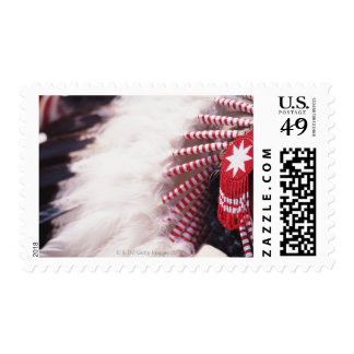 Native American Head Dress Postage